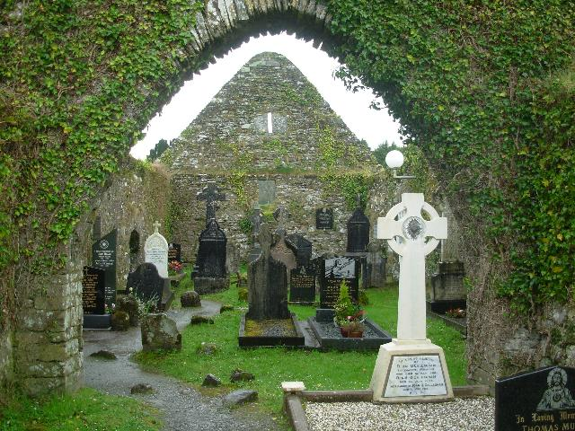 Within the walls of St. Gobnait's Church